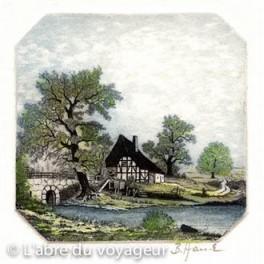 Maison et pont